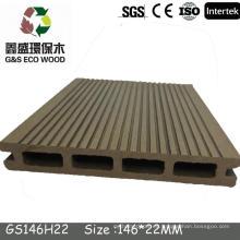 Piso exterior / suelo hueco WPC / suelo de madera de la piscina