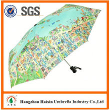 Special Print umbrella wood handle with Logo