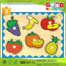 new arrival preschool educational peg fruit wooden puzzle for kids