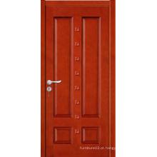 Porta de madeira sólida de alta qualidade com design de moda com certificado