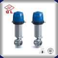 Sanitaria Dn200 SUS304 Válvula de mariposa de control automático