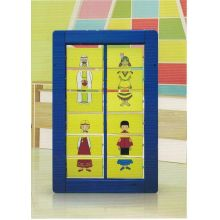 Wooden Changing Dress Wall Game Toy for Kids and Children