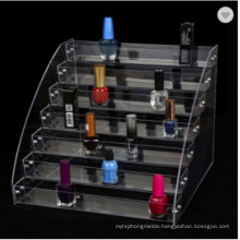 Acrylic Nail Polish Display Stand Lipstick Showing Rack Shelf Cosmetic Tray Nail Polish Organizer