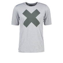Estampa camiseta cinza melange masculina running wear