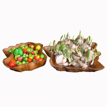 High Quality Antique Handmade Durable Wooden Plates