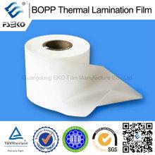 Poluição não solvente BOPP Película de laminação térmica