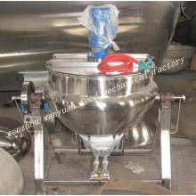 Gas Fired Jacketed Kettle 400L Gas Tiltable Cooling Kettle