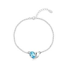 Heart Shape Bracelet Women Charm Bracelet Jewelry Platinum Plated