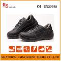 Black Steel Cheap Safety Shoes Preço RS819