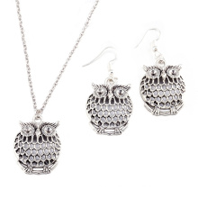 2017 Retro and Lovely Owl Pendant Necklace Earrings Animals Alloy Jewelrys