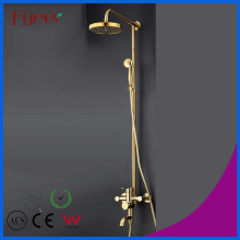 Fyeer Luxury Solide Messing Badezimmer Regenfall Golden Shower Set