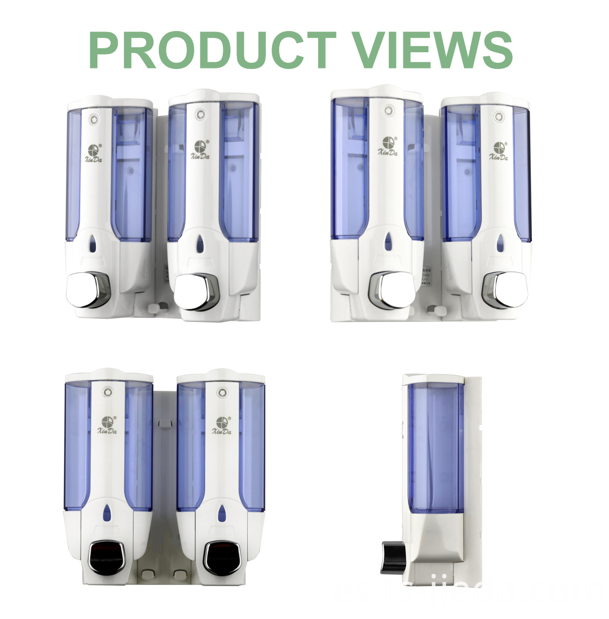 Pressure button type soap dispenser with visual function