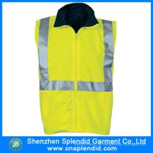 Kundenspezifische Bekleidungs-hellgelbe reflektierende Sicherheitsweste für Arbeiter