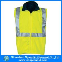 Custom Garment Light Yellow colete reflexivo de segurança para os trabalhadores