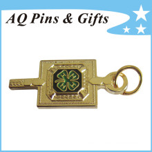 Metal Gold Badge in Finest Sandblasting with Safety Pin (badge-206)