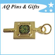 Emblema do metal do metal em Finest Sandblasting com pino de segurança (emblema-206)
