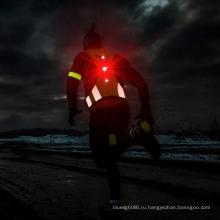 Светодиодный светоотражающий жилет для бега Прочный регулируемый безопасный