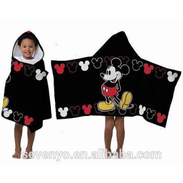 Custom Micky 100% cotton Kid hooded baby towels HDT-004 China Supplier