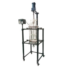 20L Chemical Lab Equipment  Crystallization Glass Reactor with PTFE plate with good vacuum seal