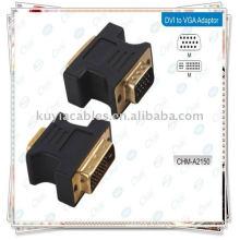 Adaptateur DVI vers VGA Convertisseur femelle pour adaptateur de moniteur