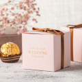 Pink candy box gift for wedding