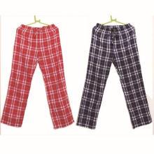 100% Cotton Yarn Dyed Check Flannel Sleepwear Pant