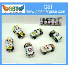 Mini Clear Toy Police Cars 3 inches