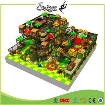 Jungle Theme Коммерческий парк развлечений Крытая детская игровая площадка для продажи
