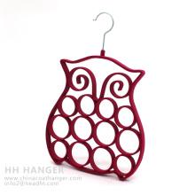 Wholesale Flocked Hanger, Hot Sale Plastic Hanger, Velvet Tie Hanger
