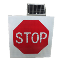 Road Safety Traffic Signs Solar Powered Led Traffic Sign