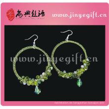 Hoop Muster Perlen handmade häkeln Ohrring