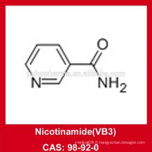 Poudre de nicotinamide (VB3) / CAS 98-92-0 / USP36 / BP2012 / GMP / DMF / Halal