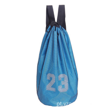 High Quality Customized Logo Football Basketball Drawstring Pocket Sports Gym Bags Backpacks