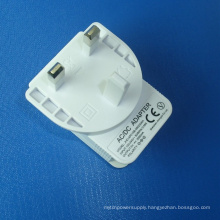White UK Plug Power Adapter AC/DC 5V 2A USB Charger