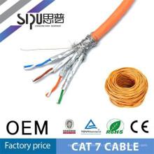 SIPU haute vitesse cat7 câble réseau gros stp cat7 câble meilleur prix câble cat7 pour ethernet