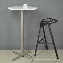 Folding MDF Painting Top Metal Leg Round Bar Table (SP-BT675)