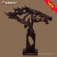 Tier Thema moderne Kunst abstrakt Pferd Kopf Statue für Wohnkultur