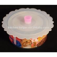 BPA libre Cubierta superior de la taza del silicón de la cubierta Tapa de la tapa del sello de la succión