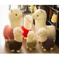 Venta al por mayor más linda Amuse Alpaca Toy, personalizado mini bebé / arco iris / tamaño de vida / peluche de alpaca de peluche de juguete