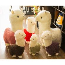 Großhandels-meiste niedlichste Amuse-Alpaka-Spielzeug, kundenspezifisches Minibaby / Regenbogen / Lebensgröße / angefülltes Plüschalpacaspielzeug
