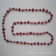 2015 shell & Кристалл ювелирные изделия, модные ювелирные изделия, ожерелье