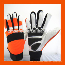 Billige Kundenspezifische Mode Neopren Spandex Garten Sicherheit Arbeit Mechanische Palm Grip Leder Frauen Garten Handschuhe