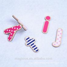wholesale fashion letter fridge magnet wooden magnet