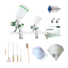 HVLP spray gun kit 20pcs kit with cleaning brush and paper cone