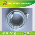 Cabo coaxial de pouco peso da folha RG6 do cobre da fabricação do cabo de Linan 18 AWG