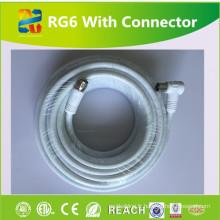 Câble CCTV haute qualité Rg6u avec connecteur