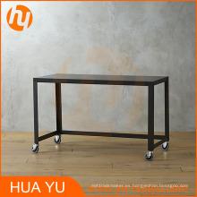 Mesa de consola del balanceo del metal del negro del carbón de Office / Home Furniture