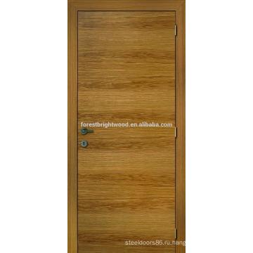 Дуб Natrual шпонированные двери дизайн для дома