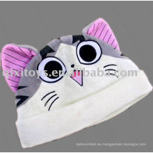 gorro de peluche de gato de dibujos animados animal