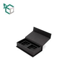 Custom black fake leather apparel magnetic gift box